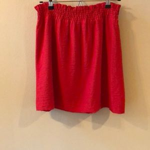 J. Crew Bright Red Mini Skirt 8